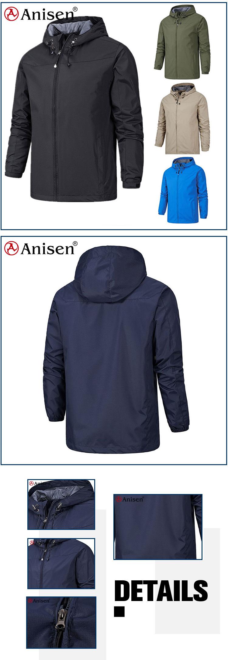 Custom lente dunne waterdicht winddicht nylon mesh voering mannen outdoor softshell ski jas