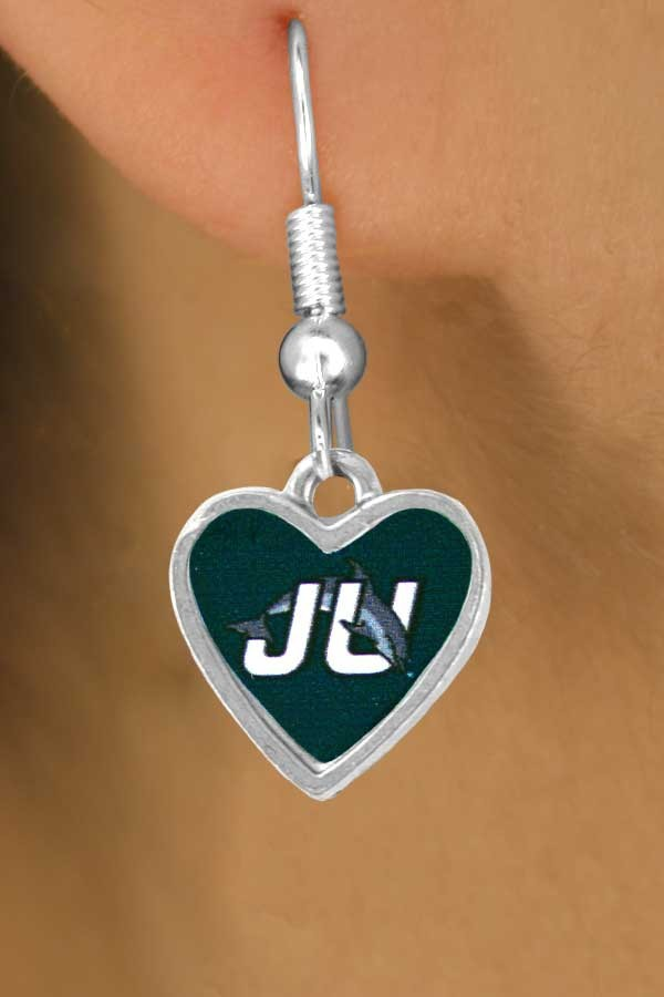 Lead, Cadmium, & Nickle Free Jacksonville University Dolphins Logos Earring College Jewelry