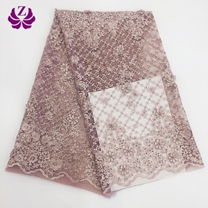 afican guangzhou rhinestones elegant lace tulle fabric embroidery