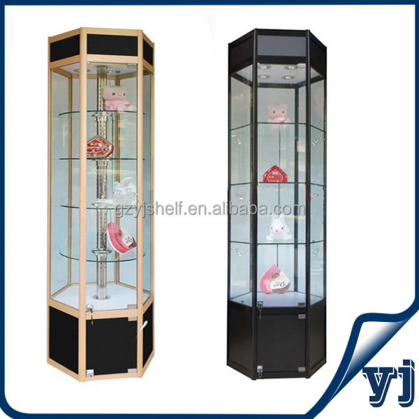Revolving Freestanding Tower Display Showcases,Aluminum &tempered ...
