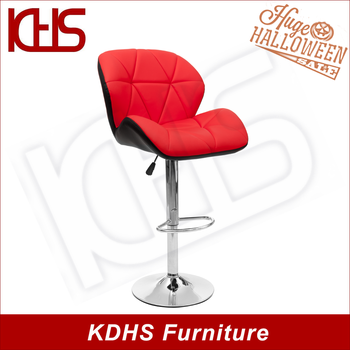 Awe Inspiring Hot Sale Used Red Leather Wing Back Gas Lifting Swivel Bar Stools With Chromed Base Buy Swivel Bar Stool With Backrest Pu Bar Stool Used Swivel Bar Unemploymentrelief Wooden Chair Designs For Living Room Unemploymentrelieforg