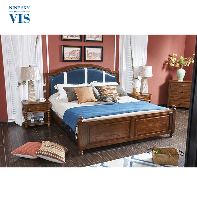 Wholesale Antique Style Durable King Bed Frame,Wooden Bed Frame Queen