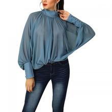 Fashion <span class=keywords><strong>blouses</strong></span> <span class=keywords><strong>Polyester</strong></span> Vrouwen Lange Mouw <span class=keywords><strong>Blouses</strong></span> see through look & losse & ademend ruches 297181