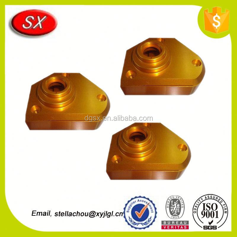 custom Machined fish reel parts golden Fishing fish Reel parts