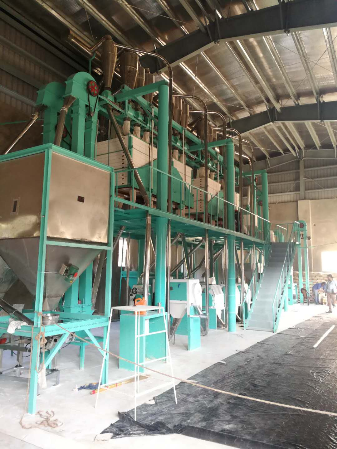 50 ton per day middle corn maize/wheat flour mill milling plant