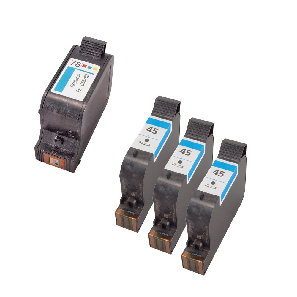 Cheap 45 78 Ink Find Deals On Line At Alibabacom Tinta Cartridge Hp Black Original Get Quotations Inkuten Replacement Set Of 4 Cartridges 3 51645a And