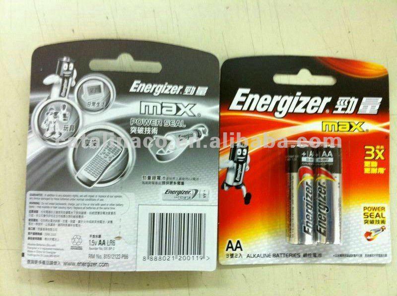 Energizer Max Aa Aaa C D 9v Alkaline / Lithium Batteries