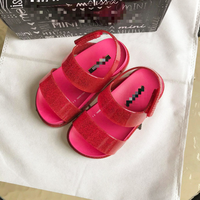 Brand new high quality girls summer pvc jelly sandals with original dust bag
