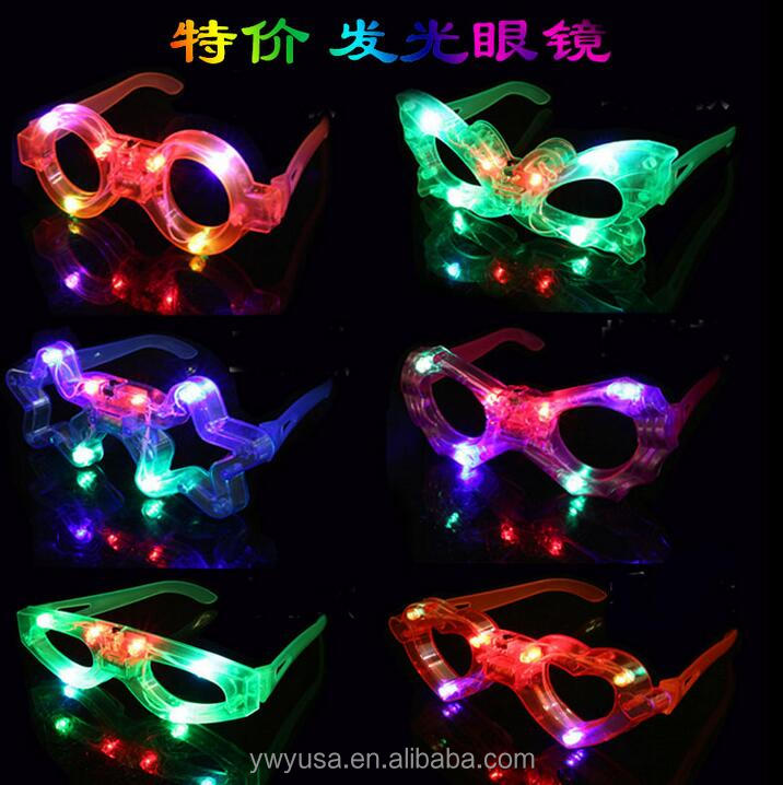 Butterfly Shaped Plastic Led Party Favor Fashionable Glasses