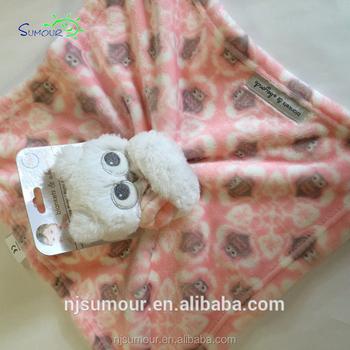Nwt Blankets Beyond Baby Pink Owl Security Plush Swirl Toy Nunu