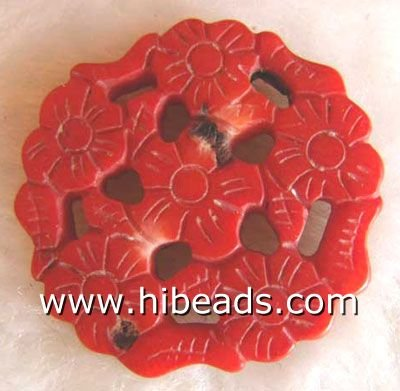 beautiful carved coral charms CRP0082