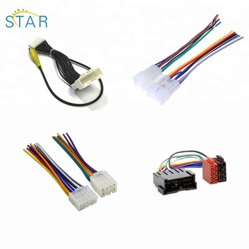 pa66 auto electrical iso wire cable harness assembly adapter for sumitomo  male to female