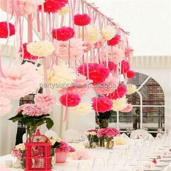 Promotion Wedding Decoration Diy Bridal Baby Shower Birthday Garland Decorative Tissue Paper Pom Poms Flowers Balls Buy Paper Pom Pomflower