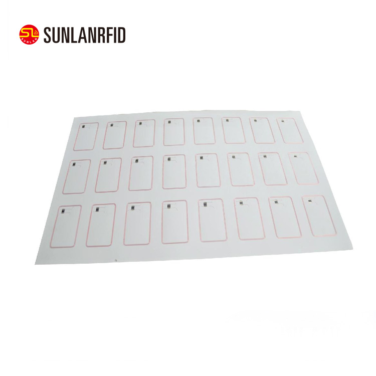 Customized t5577 / sle4428 / tk4100 / em4200 pvc Double Hole RFID Card Inlay Sheet for smart card