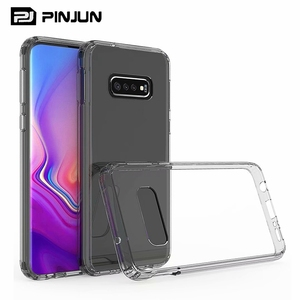 Shockproof scratch resistance hard back soft tpu bumper hybrid clear case for samsung galaxy s10 lite back cover