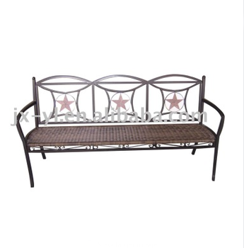 Phenomenal Outdoor Patio Furniture Metal Rattan Seat Bench Buy Rattan Bench Garden Furniture Mosaic Furniture Product On Alibaba Com Short Links Chair Design For Home Short Linksinfo