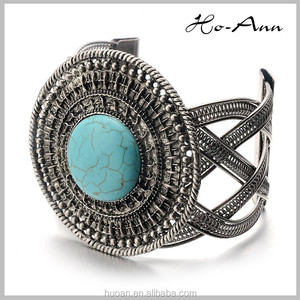 DSC-3946 Cheap indian fashion jewelry turquoise heavy bangles hot sale for stock