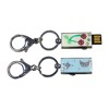 Hot Popular Doming Epoxy Key Chain Metal Pendrive 128gb