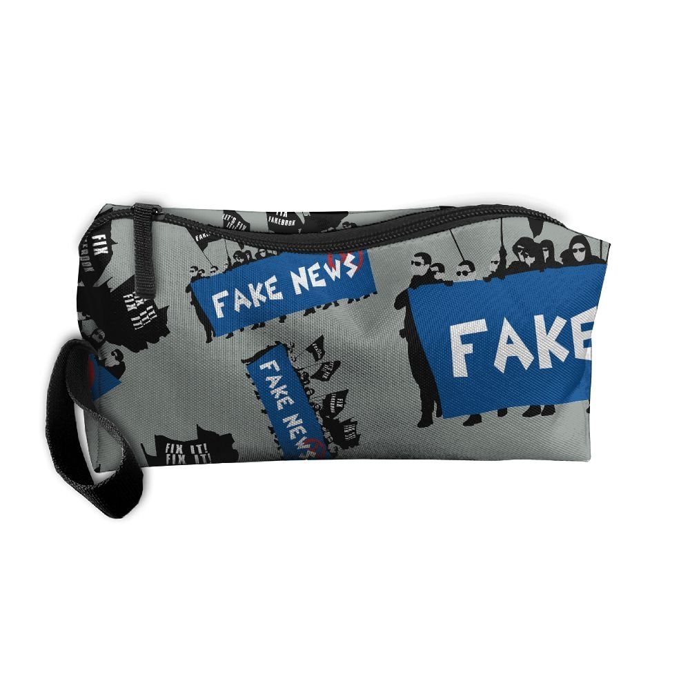bc0c4bf55416 Get Quotations · DFGGH Fake News Fix Fakebook Unisex Cosmetic Bags Makeup  Travel Zipper Storage Bags