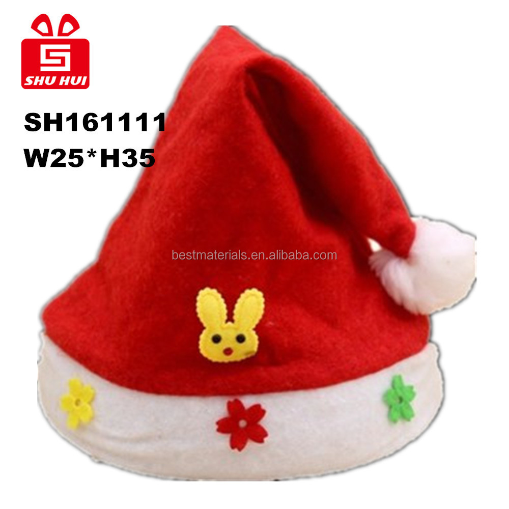 Wholesale christmas hat, santa clause hat with lamp bead, christmas decoration with star