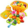 14 Pcs set Plastic Fruit Vegetable Kitchen Cutting Toy Early Development and Education Toys for Baby