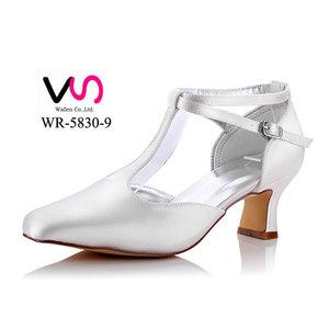 ae993ea8e85 chunk heel Square shoe toe wide board dyeable satin closed toe pump handmade  bridal shoes