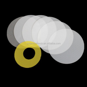 round nylon polyester PP PE PET PA6 water filter circle disc