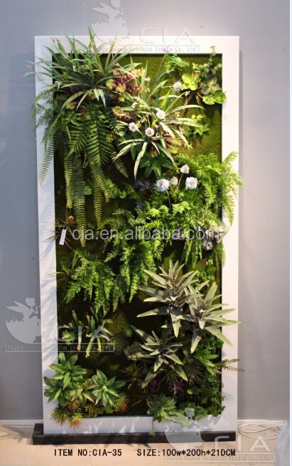 Fake Plants Faux Succulents Hanging Garden Wall Dedcor Art
