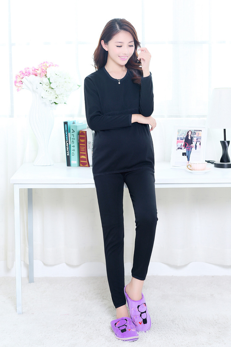 c05688a2036 Get Quotations · Maternity Nursing Wear Flannelette Maternity leisure wear  thickening Lactaition clothes