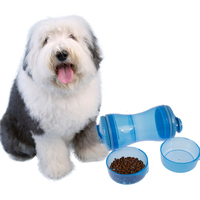 Wholesale Custom Portable Pet Dog Water Bottle Dual-use Dog Food Water Bottler Outdoor Travel Bowl Feeder