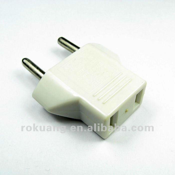 9619 Usa To Euro Plug Adapter,2 Flat Scket To 2 Round Pin Adaptor ...