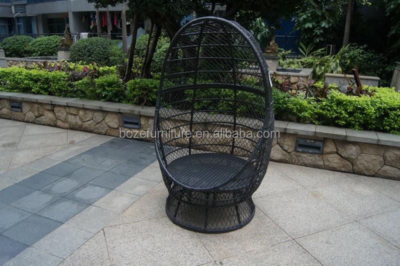 Jardín Al Aire Libre Muebles De Mimbre Silla Giratoria Colgando ...