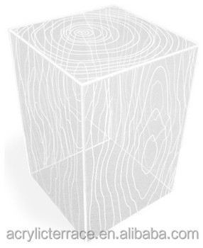 Modern Acrylic Timber Cube Table / Side Or End Table, Clear Part 74