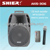 AK15-306 Pro 15inch subwoofer powered stage wireless pa system microphone
