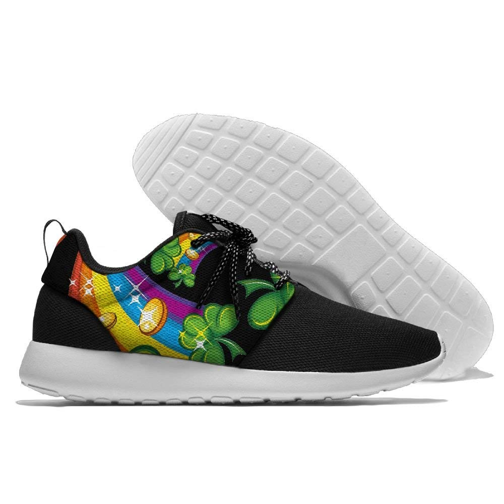 Rainbow Shamrock Men Print Lightweight Sport Shoes Sports Breathable Sneaker Running Shoes
