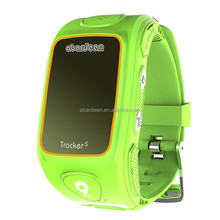 High definition talking high precision locating kids gps tracker smart watch