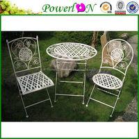 Antique Anti Rust Metal Folding Garden Furniture Set