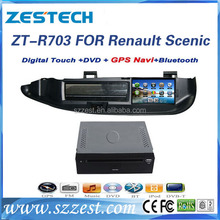 ZESTECH China wholesale 2 din touch screen gps oem Car head unit for Renault Scenic satnav gps