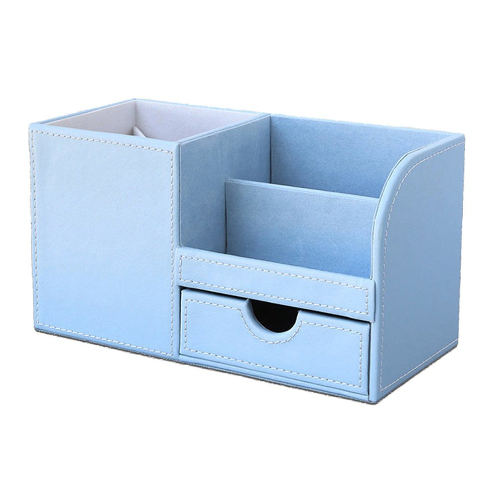 Cheap blue phone box find blue phone box deals on line at alibaba get quotations multi function fashion desk stationery organizer storage box wooden struction leather penpencil reheart Choice Image