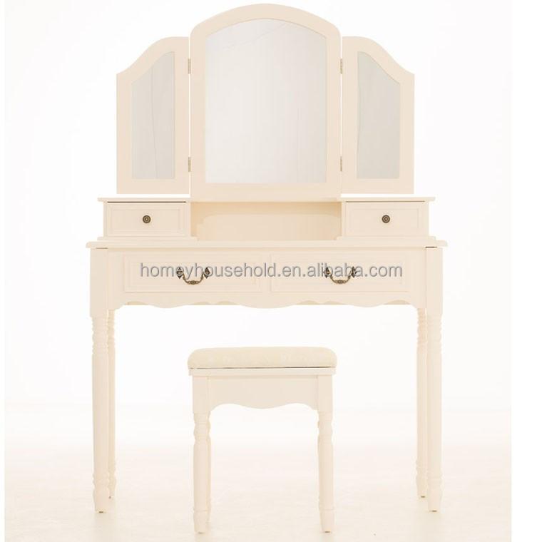 triple espejo tocador moderno pink girls dormitorio muebles mesa de maquillaje