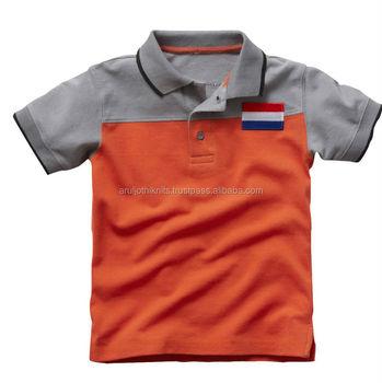 Two Tone Cut & Sew Polo Shirt For Boys - Buy Boys Clothing,Kids ...