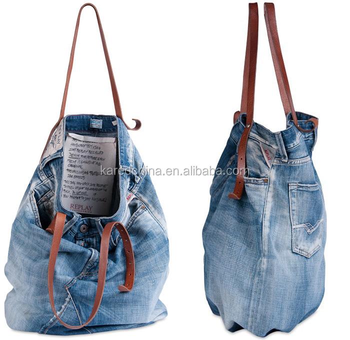 china new innovative product designer tote denim handbag msb bag jeans bag 5b3dc0946bd65