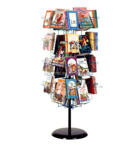 Goog looking multi-tier spinning comic book display rack