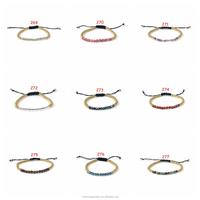 Cute Fashion Gold Beads Woven Bracelet Semi-precious Stone Bracelet Beads Bracelet