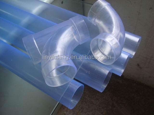 Clear rigid pvc for transparent upvc pipe fittings buy
