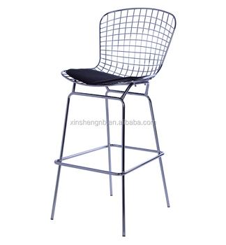 Moderne Haute Design Meubles De Chromé Chaise En Bar Métal Tabouret ZiuTlwOPkX