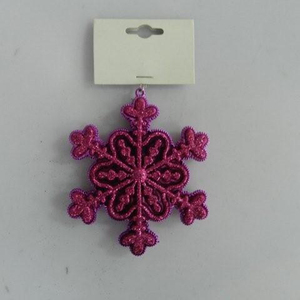 Wholesale Popular Plastic Glitter Finish Snowflake Christmas Tree Decoration Ornaments