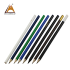Wooden Pencil Pens Industry 2018 Personalized Single Color Standard Pencils Custom Logo Promotional Kids 2B HB Pencil in bulk