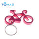 Wedding favor gift and giveaways bicycle metal beer bottle opener bike keychain key ring for guest