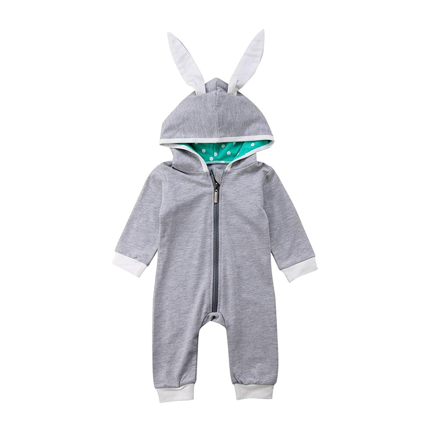 One opening Infant Toddler Baby Boys Girls Romper Footless Cute Zipper Front Pajamas Sleeper Play Suits